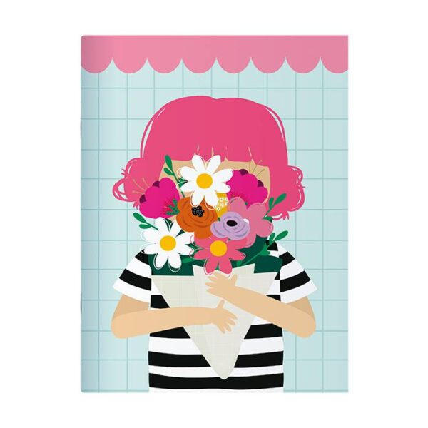 Caderno Pontado Menina Buquê