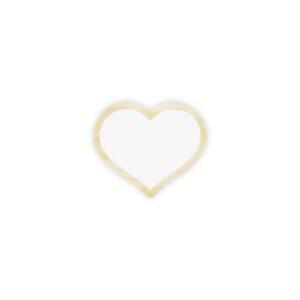 gancho coração branco