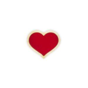 gancho coração vermelho