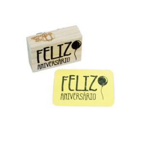 CARIMBO FELIZ ANIVERSÁRIO