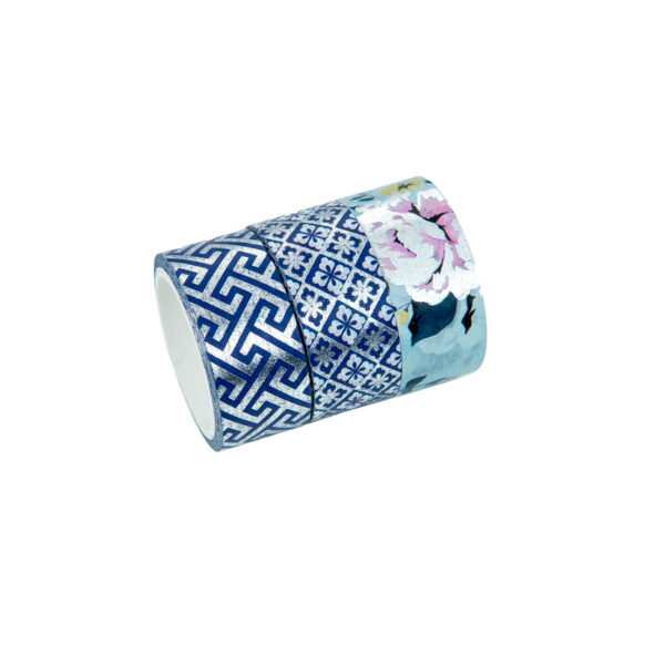 TRIO WASHI TAPE ARABESCO PRATA