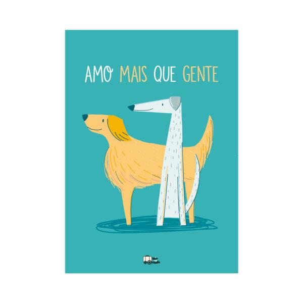 PÔSTER DOGS AMO MAIS