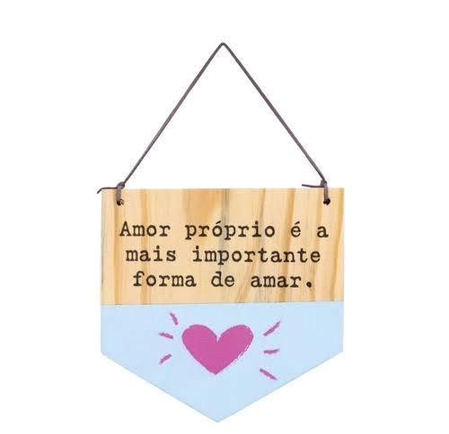BANDEIROLA DE MADEIRA - AMOR PRÓPRIO