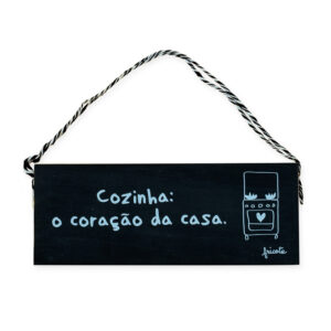 PLACA COZINHA - PRETO