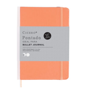 BULLET JOURNAL PONTADO - CORAL