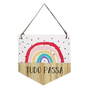 BANDEIROLA DE MADEIRA TUDO PASSA