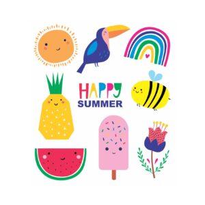 TATUAGEM TEMPORÁRIA HAPPY SUMMER