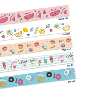 KIT WASHI TAPE FOODS