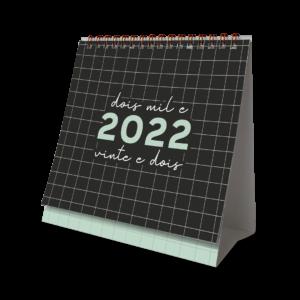 CALENDÁRIO DE MESA 2022 - QUADRICULADO